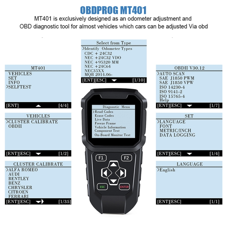 obd mileage correction MT401 can not support polo 2013 Johnson